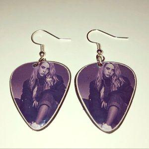 BILLIE EILISH vinyl record guitar pic earrings